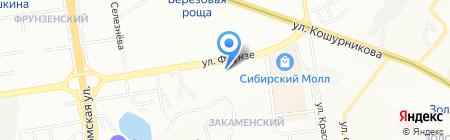 ВОЯЖ на карте Новосибирска