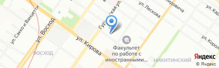 Добрый друг на карте Новосибирска