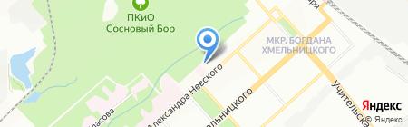 Детский сад №25 Снегурочка на карте Новосибирска