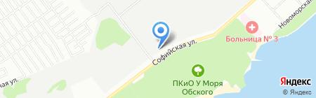 Сдоба на карте Новосибирска