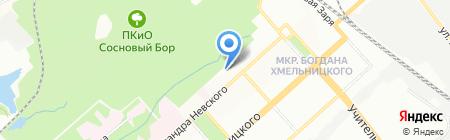 Детский сад №13 на карте Новосибирска
