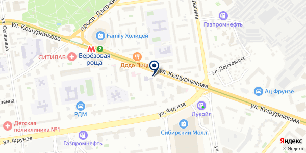 ЖЭУ №31 на карте Новосибирске