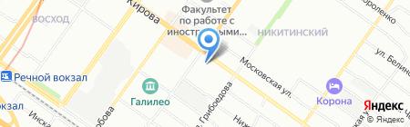 Аскат на карте Новосибирска