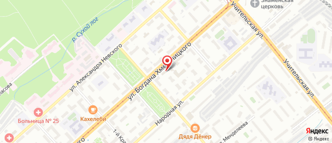 Карта расположения пункта доставки Новосибирск Богдана Хмельницкого в городе Новосибирск