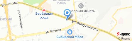 София на карте Новосибирска