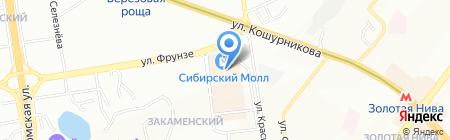 Классик Кожа на карте Новосибирска