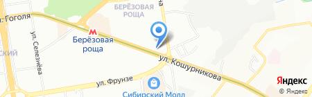 Аквилон тур на карте Новосибирска