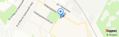Магазин пряжи и швейной фурнитуры на карте Новосибирска