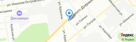 Апшерон на карте Новосибирска