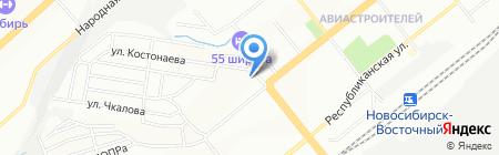 Аспект на карте Новосибирска