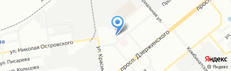 Таконео на карте Новосибирска