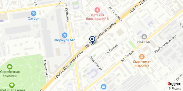 Портной на карте Новосибирске