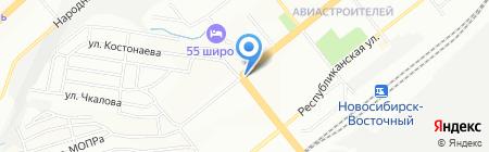 Конфеты на карте Новосибирска