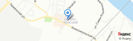 Отражение на карте Новосибирска