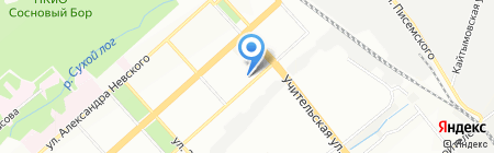 Средняя общеобразовательная школа №23 на карте Новосибирска