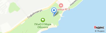 Лукоморье на карте Новосибирска