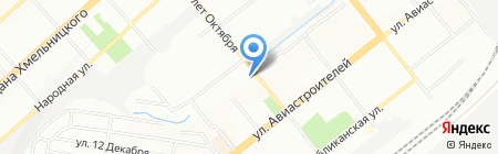 LINDA на карте Новосибирска