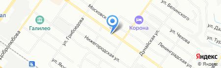 Русалочка на карте Новосибирска