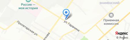 Обменный фонд на карте Новосибирска