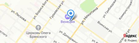 Милеон на карте Новосибирска