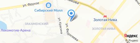 Средняя общеобразовательная школа №186 на карте Новосибирска