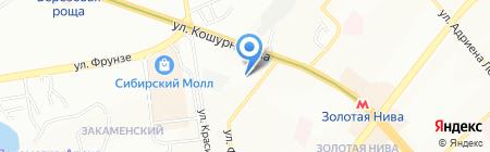 Банкомат Газпромбанк на карте Новосибирска