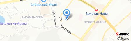 Средняя общеобразовательная школа №11 на карте Новосибирска