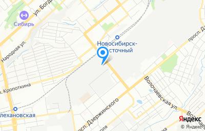 Местоположение на карте пункта техосмотра по адресу г Новосибирск, проезд Электрозаводской, д 1