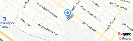 Дукат на карте Новосибирска