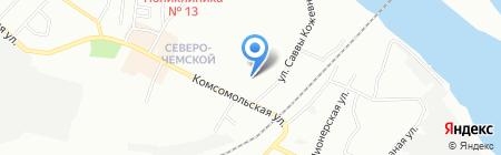 Аникс на карте Новосибирска