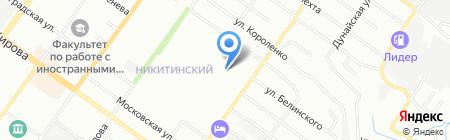 Тургеневский на карте Новосибирска