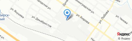 Олимп на карте Новосибирска