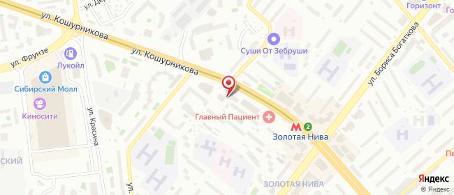 Карта расположения пункта доставки 220 вольт в городе Новосибирск