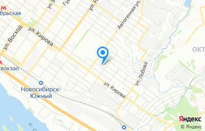Местоположение на карте пункта техосмотра по адресу г Новосибирск, ул Дунайская, д 47