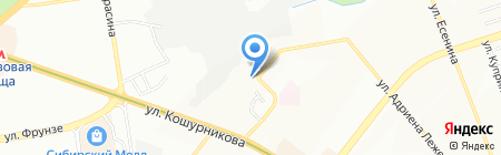 А Б В Бетон на карте Новосибирска