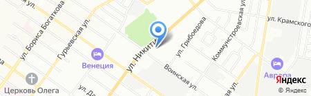 Быстроном на карте Новосибирска