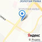 Кнопка на карте Новосибирска