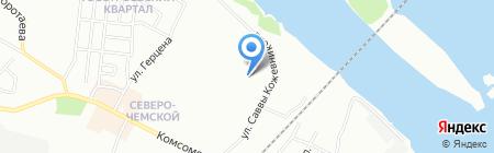 Северо-Чемской на карте Новосибирска