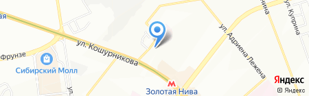 Люмен на карте Новосибирска