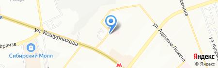 Юртерра на карте Новосибирска