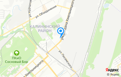 Местоположение на карте пункта техосмотра по адресу г Новосибирск, ул Богдана Хмельницкого, д 71/15