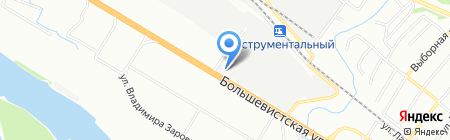 Советский инструмент на карте Новосибирска