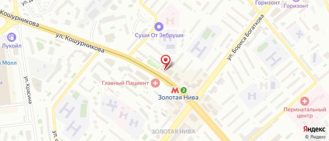 Карта расположения пункта доставки Lamoda/Pick-up в городе Новосибирск