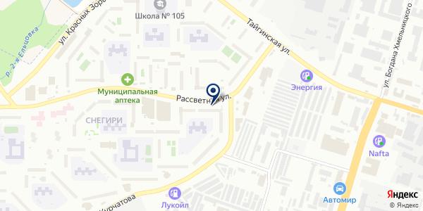 Ивушка на карте Новосибирске