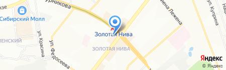 Ангел на карте Новосибирска