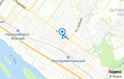 Местоположение на карте пункта техосмотра по адресу г Новосибирск, ул Нижегородская, д 201