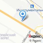 Автозапчасти GM на карте Новосибирска