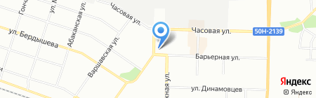 Клио на карте Новосибирска