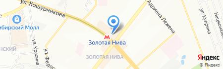 Домашний текстиль на карте Новосибирска