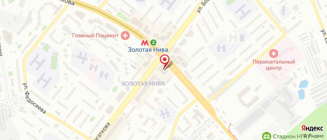 Карта расположения пункта доставки Новосибирск Бориса Богаткова в городе Новосибирск